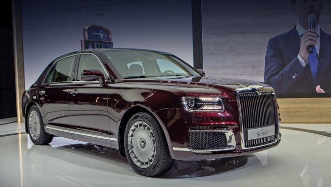 V prvom showroome Aurus je už prvé vozidlo Aurus Senat.