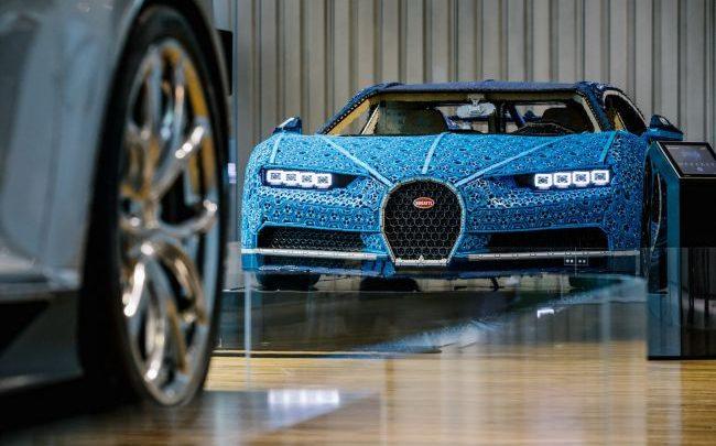 Bugatti vystavilo v Nemecku Chiron vyrobený z lega v pomere 1:1