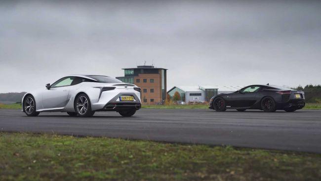 Lexus LFA vs Lexus LC500. Ktoré auto je rýchlejšie?