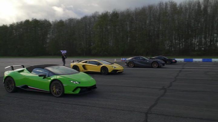 Ferrari, Lamborghini a McLaren. Kto vyhraje šprint na štvrť míle?