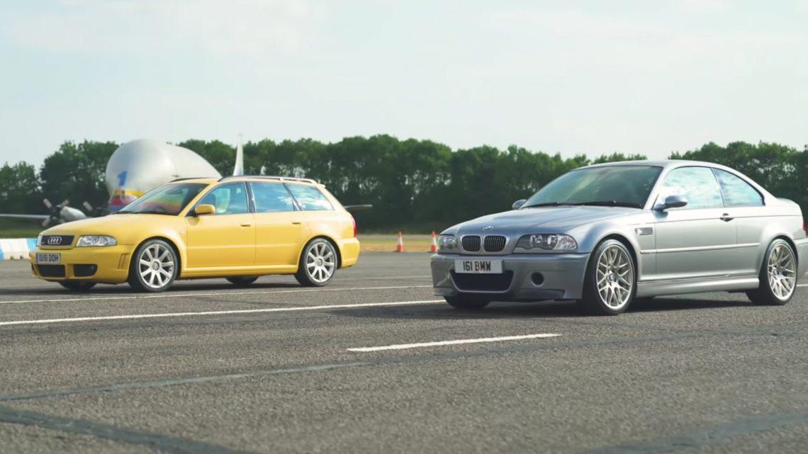 Bitka 90. rokov. BMW M3 CSL E46 vs Audi RS4 B5.