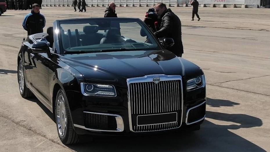 Kabriolet Aurus pôjde do sériovej výroby. Oznámil to ruský minister priemyslu a obchodu.
