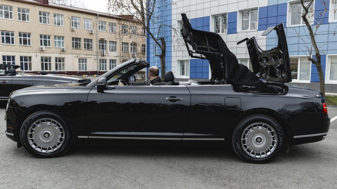 Pozrime sa detailnejšie na Aurus Senat S600 Cabrio.