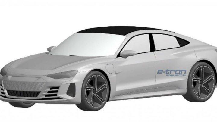 Patentové snímky elektrického sedanu Audi E-tron GT boli zverejnené.