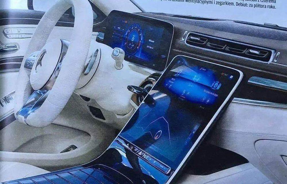 Interiér nového Mercedesu triedy S bol odhalený únikom. Taký veľký displej nemá asi žiadne auto.