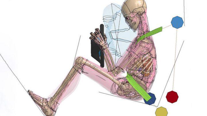 Človek, ktorý viac relaxuje trpí pri nehode menej.