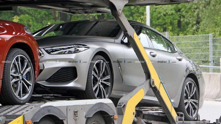 BMW radu 8 Gran Coupe bolo nafotené bez kamufláže.