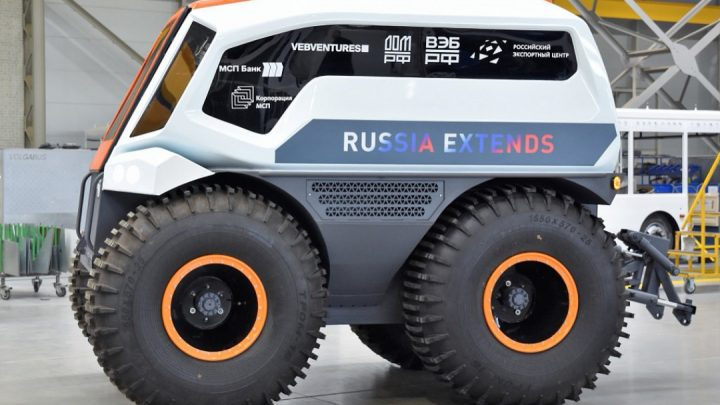 V Rusku predstavili bezpilotný polárny autobus.