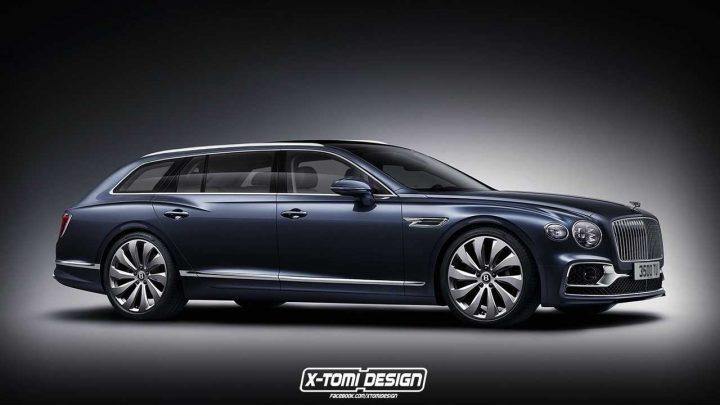 Takto by mohlo vyzerať kombi od Bentley s maximálnou rýchlosťou viac ako 300 km/h.