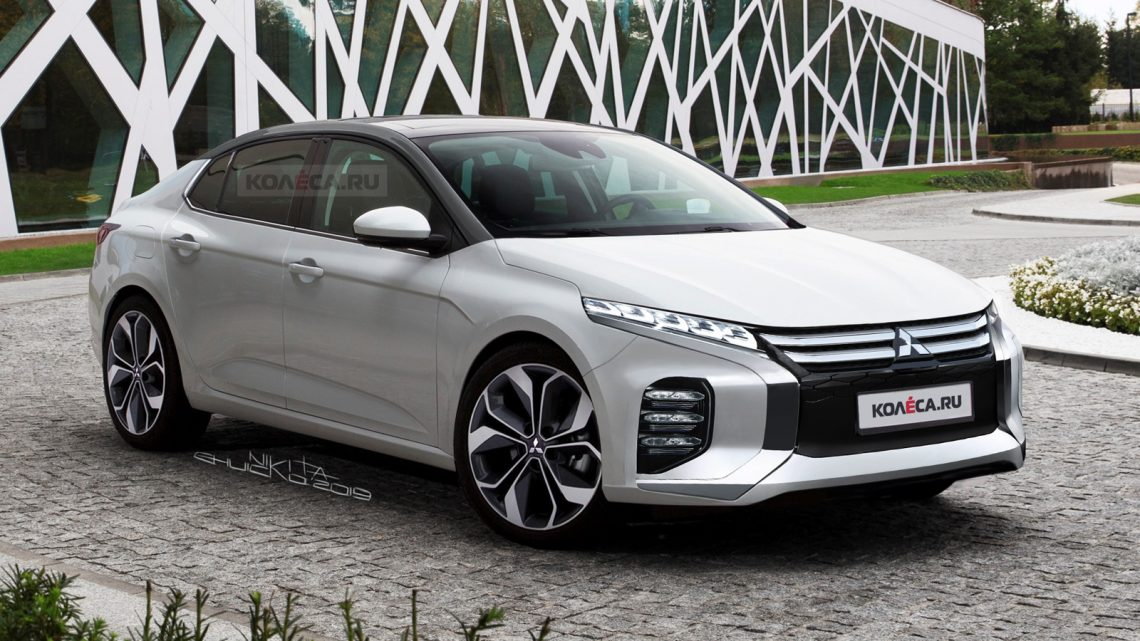 Takto by mohlo vyzerať nové Mitsubishi Lancer.