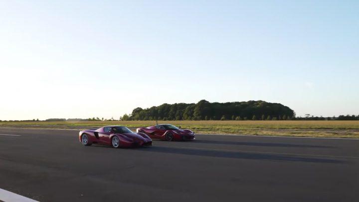 Medzigeneračný šprint. LaFerrari vs Ferrari Enzo.