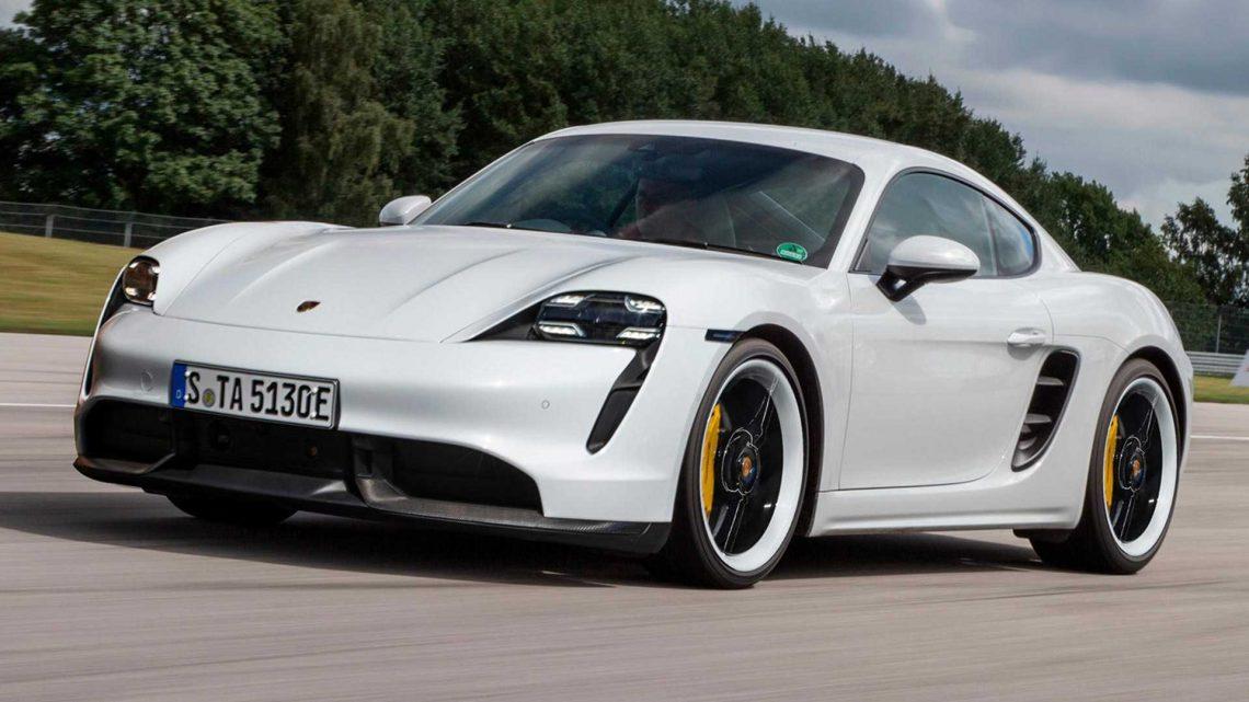 Takto by mohlo vyzerať elektrické Porsche Cayman EV.