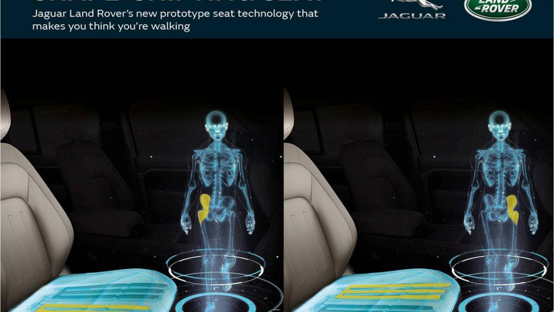 Nové sedadlo Jaguar Land Rover minimalizuje ochorenia kvôli dlhému sedeniu.