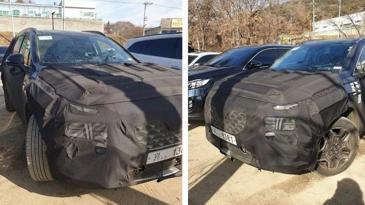 Hyundai Santa Fe po facelifte bol nafotený s kamuflážou. Interiér prejde väčšou zmenou.