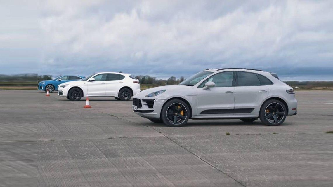 Šprint: Porsche Macan Turbo vs Audi RS Q3 Sportback a Alfa Romeo Stelvio Quadrifoglio