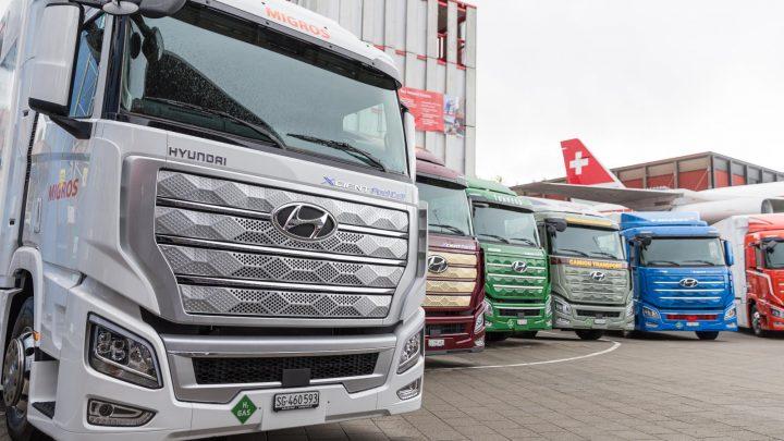 Flotila vodíkových nákladných vozidiel Hyundai Xcient prekonala milión kilometrov.