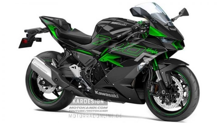 Takto by mohla vyzerať motorka Kawasaki Ninja 700R.