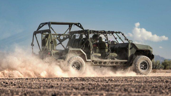 V General Motors ukázali elektrické vozidlo pre Armádu.