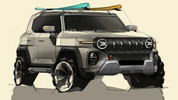 SsangYong odhalil skice nového vozidla, ktoré sa podobá na legendárny Jeep.